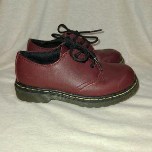Dr. Marten's burgundy boy shoes, 10C